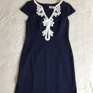 Stunning blue midi dress size 10 by Eliza J